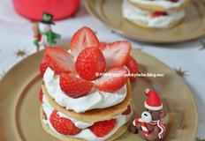 노오븐베이킹 딸기 생크림 케익 만들기 크리스마스 홈파티