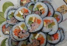 참치김밥, 김치김밥, 누드김밥, 야채김밥