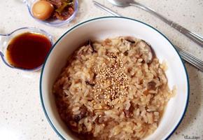 #시원한 새우와 조개육수를 이용한 버섯죽 만들기