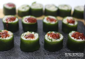 다시마롤초밥 만들기~ 건강식 다시마를 데구르르 굴려서 초고추장 퐁당!!