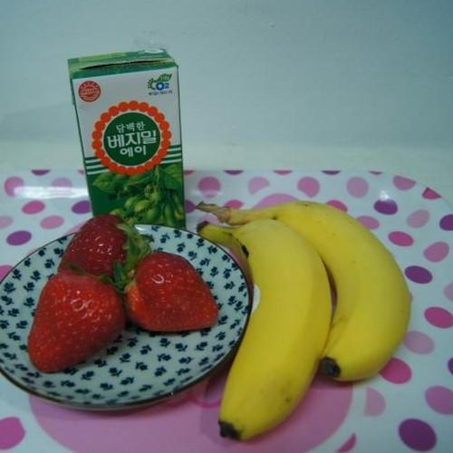 두유 바나나 딸기쉐이크