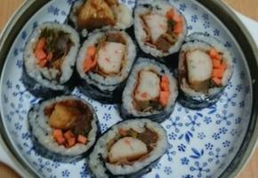 자취라이프 김밥 재료 없이 집에서 간단하게 김밥 만들어 먹었어요:)