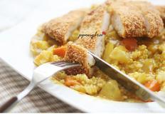치킨까스 카레덮밥 만들기