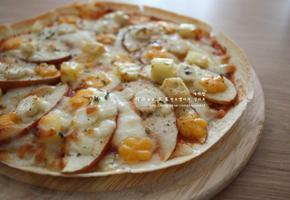 간단 피자 또띠아피자 - 사과,인삼을 넣은 찰떡궁합 인삼사과피자