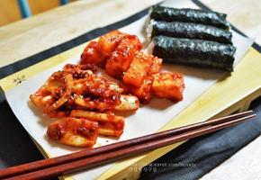 충무김밥 오징어무침 깍두기 만들기
