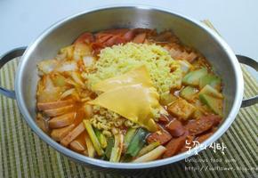 사골곰탕으로 맛있는 부대찌개만들기(부대찌개만드는법)
