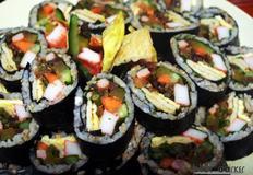 명란젓김밥 오징어채무침김밥 멸치볶음김밥 마늘쫑멸치볶음김밥