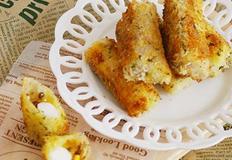 견과류 듬뿍 치즈떡말이 라이스페이퍼요리
