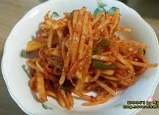 백종원 무생채 레시피 - 비빔밥 재료로 좋아요^^