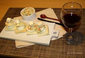 브런치로 즐겨도 좋은 식빵카나페, 와인안주로도 굿~!!
