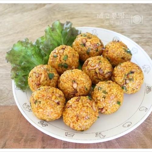 아이들 점심으로 준비한 오징어 주먹밥