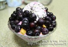 블루베리 아이스크림 빙수