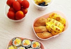색다른 그물도시락~ 딱세가지김밥&그물유부초밥