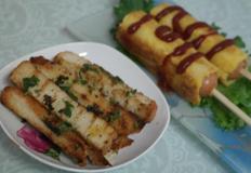 식빵으로 만든 건강한 간식, 핫도그와 마늘 빵