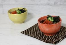 뜨끈한 멸치육수에 말아 먹는 도토리묵밥 만들기