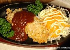 쌀과자로 만든 이색돈까스