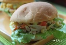 게살야채 모닝빵 샌드위치