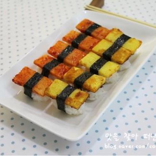 카레와 고추장을 이용한 이색초밥 산마초밥