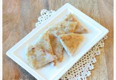 바삭 쫀득하니 맛있는 후라이팬에 구운 찰떡, 견과류 찹쌀부꾸미, 후라이팬 찰떡