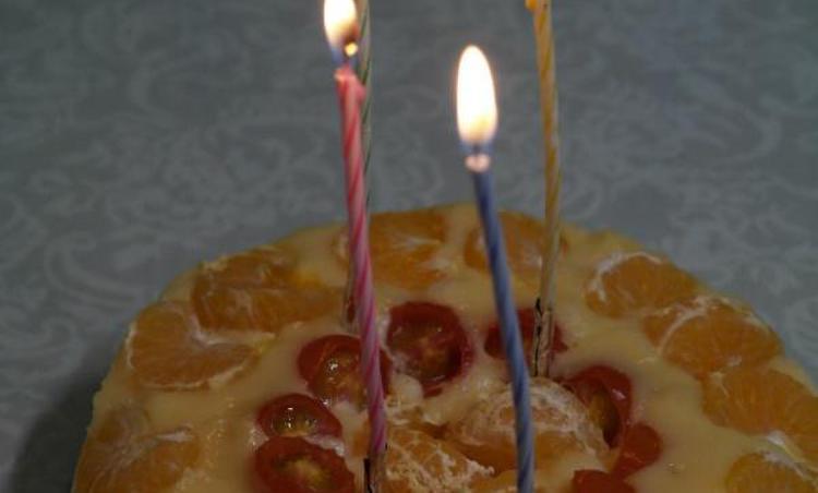 전자레인지로 만든 생일 케이크
