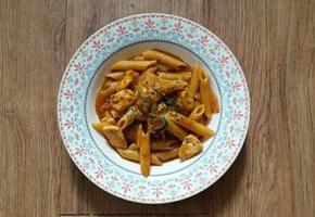 바베큐 치킨 파스타 (Barbeque chicken pasta)