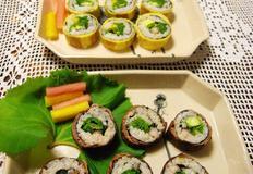 달걀말이 김밥- 속재료 딱 세가지로 상추김밥과 고추김밥