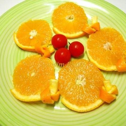 오렌지 예쁘게 깎는 법< 오렌지 매듭 모양 만들기 >