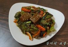 도토리묵무침 레시피^^ 효능만점인 도토리묵으로 건강한 밥반찬 겸 술안주인 묵무침 만드는 법^^