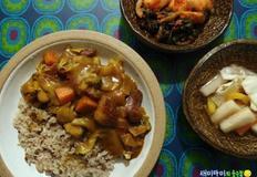 고구마카레라이스:고기는 불허한 채소들의 파티
