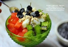 과일빙수 만들기