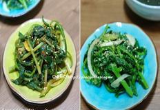 봄나물요리, 춘곤증예방음식 ' 들깨유채나물무침 과 생취나물무침' *푸키베베*