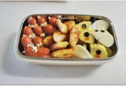 어린이집 소풍도시락 싸기-비엔나 문어/꿀벌 계란말이