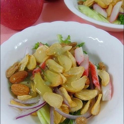 마늘스넥 견과류 야채샐러드