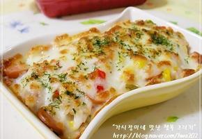 찬밥과 냉장고속 짜투리 야채들의 화려한 외출 라이스그라탕