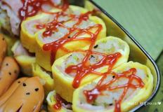 달걀베이컨말이밥