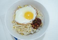 콩나물밥과 양념장 만들기