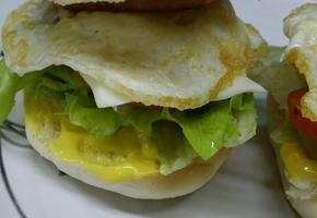 미니 햄버거, 모닝빵 스팸 버거