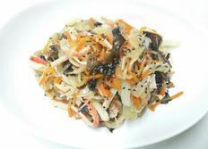 잡채, 고기없이 집에있는 재료로 만든 잡채