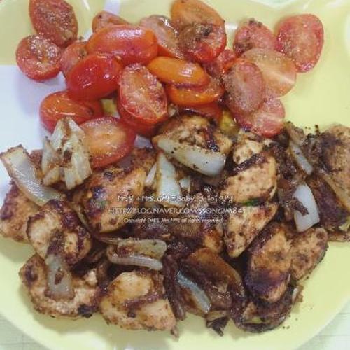 닭가슴살요리법 갈릭버터 닭가슴살스테이크
