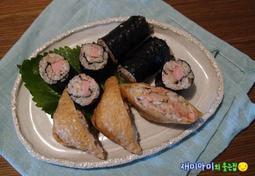 참치유부초밥과 참치꼬마김밥:시판조미유부로 감동의 맛을 만들어 봐요