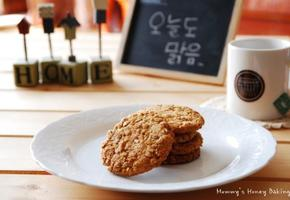 오트밀과 코코넛의 쿠키