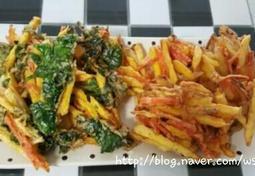 [유아간식]고구마 야채튀김 만들기