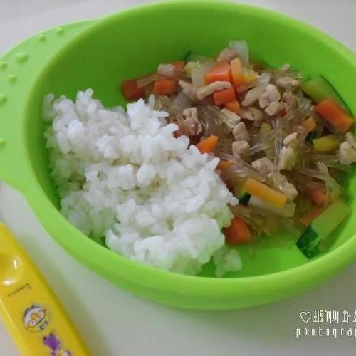 12개월 유아식 잡채밥