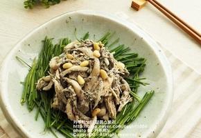 닭가슴살버섯무침
