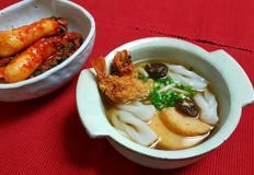 왕새우 튀김우동