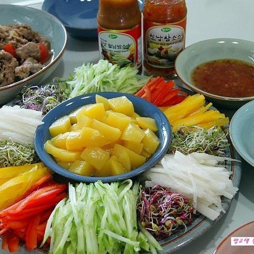 먹다남은 야채를 비우고 싶을땐 월남쌈이 참 좋더라~~~// 냉장고를부탁해~~ㅋㅋ