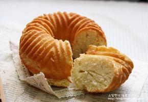 생크림 코코넛 파운드(노버터, 노오일)