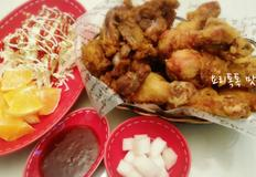 닭다리로만 만든 치킨  쫄깃하니 오독오독 씹히는 근위튀김
