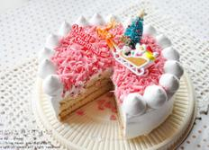 핑크생크림케이크