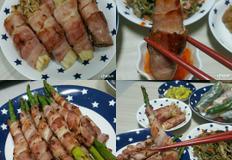 [아스파라거스베이컨말이&팽이버섯베이컨말이] 생일메뉴 만들기 - 양싸